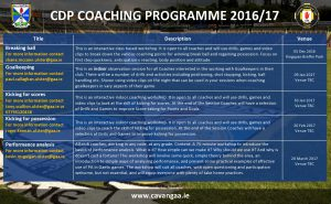 Coach Development Programme 2016/17
