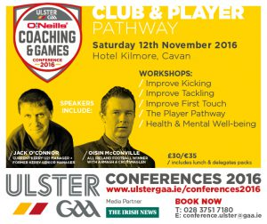 O'Neill's Ulster GAA Coaching & Games Development Conference