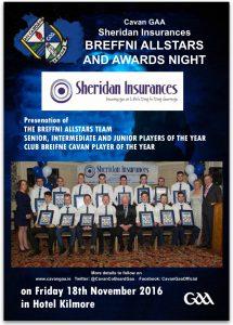 Sheridan Insurances Breffni Allstars & Awards