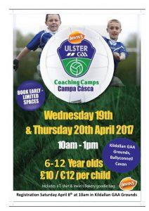 GAA Easter Camp at Kildallan GAA Grounds