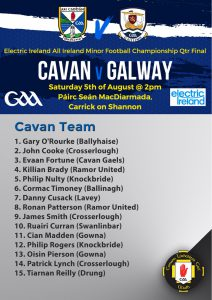 Minor Panel to play Galway