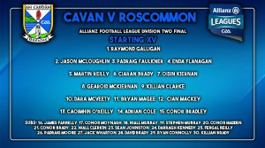 Team News: Panel named to play Roscommon