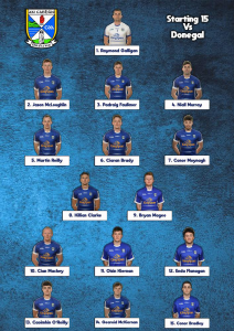 Senior Team to play Donegal