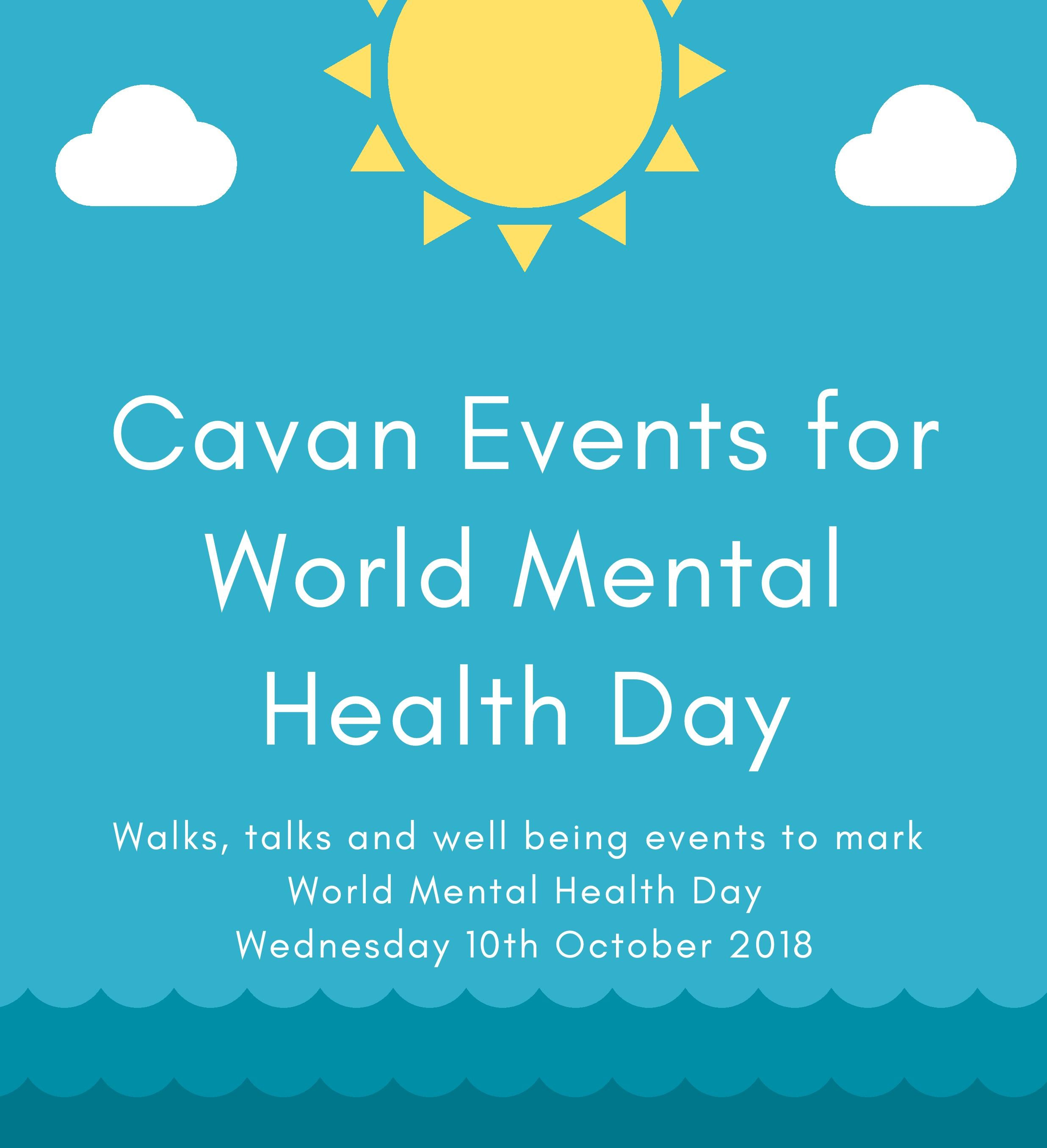 World Mental Health Day - 10th October; events scheduled ...