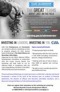 Club Leadership Programme – Preparing for AGM & Club Accounts
