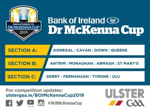Bank of Ireland Dr McKenna Cup Draw