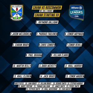 Cavan Panel to play Roscommon