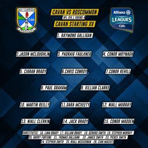 Cavan Panel to play Roscommon