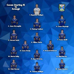 Senior Team to play Armagh