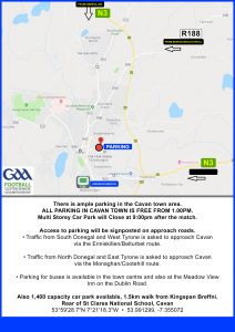 Traffic & Parking Info for Kingspan Breffni