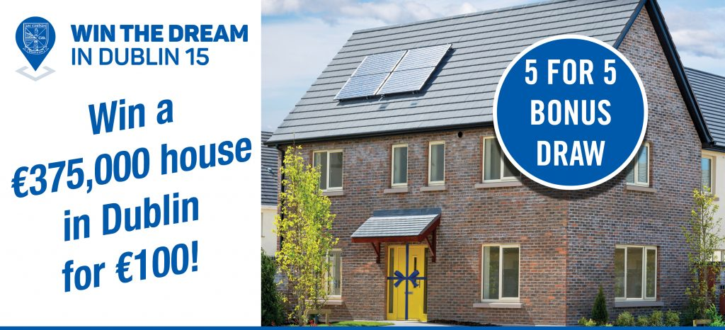 Ulster final special – Win 5 free tickets for a €375,000 house in Dublin!