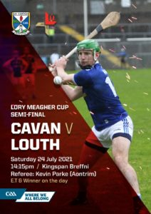 Programme v Louth Lory Meagher Semi Final