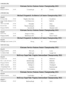 Cavan GAA Championship Round 4 Fixtures